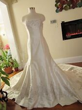 New Trumpet Traditional Silk Wedding Dress With Train size  12 Sample
