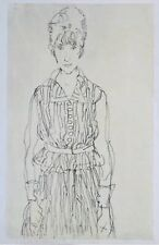 "Egon Schiele Lithograph 19.5x14"", Limited Edition, printed 1968 in Vienna."