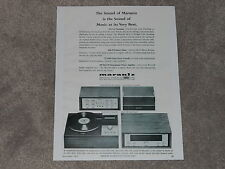 Marantz Ad 1966 Ad, Model 8b Amp, Model 7T Pre, SLT-12 Turntable, 10b Tuner,1 pg