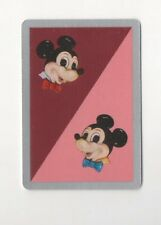 Playing Swap Cards 1 Japanese  Nintendo 1960's Disney Micky Mouse  3/4 Size J135