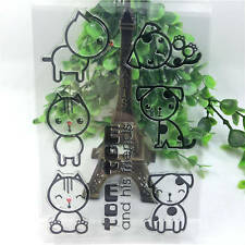 Cat & dog Silicone Rubber Clear Stamp Diary Christmas Card Seal Scrapbooking A92