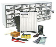 190 PC WATCH BATTERY BATTERIES Starter KIT SET w/ CABINET + TOOLS Labels NEW