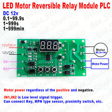 LED Display Motor Reversible Relay Module PLC DC12V Digital Programmable Control