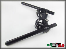 Strada 7 Racing CNC Clip On Handle Bars Aprilia RS250 50mm Black