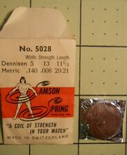 SAMSON SPRING Watch Mainspring No 5028 Dennison 5 X 13 - 11 1/2  .140 .008 29.21
