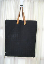 Hermes Ahmedabad Large Black Cotton Tote Hand Bag
