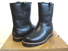 Ugg Stoneman Black Leather Men Boots US9/UK8/EU42.5/JP27