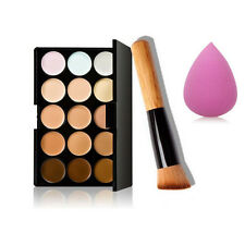 3pcs Partei Beauty Contour Face Cream Make-up Concealer Palette Set  15 Farben