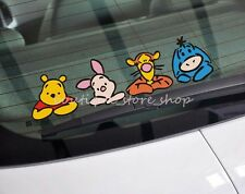 Cute funny Winnie the Pooh Windows windshield rear bumper Car Stickers Decals