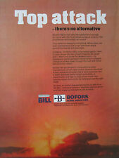 2/1989 PUB BOFORS NOBEL INDUSTRIES BILL ANTI TANK MISSILE SYSTEM ORIGINAL AD