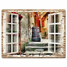 PP0597 French Window Scenery Chic Sign Shop Store Cafe Home Room Kitchen Decor