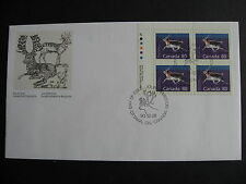 CANADA Sc 1180c FDC First Day Cover, upper left plate block, check it out!