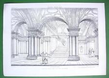 ARCHITECTURE PRINT : Italy Rome Crypt of S. Martino ai Monti