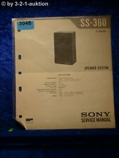 Sony Service Manual SS 360 Speaker System (#3048)
