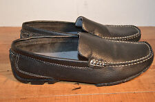 MENS DEXTER BLACK LEATHER DRIVING LOAFERS size 7 med EXCELLENT!