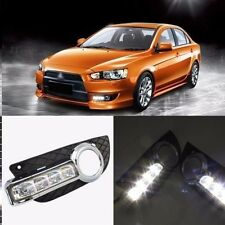 2x LED yellow Daytime Running Fog Lights Lamp DRL For Mitsubishi Lancer EX 2008+