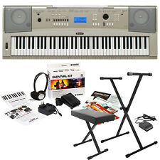 Yamaha YPG-235 76-key Keyboard + Survival Kit D2 + Stand + Bench + Sustain Pedal