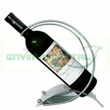 Modern Silver Stainless Steel Metal Bottle Wine Rack Holder Table Decor Support