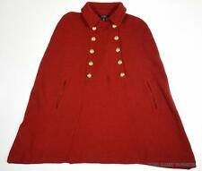 Ralph Lauren Women's Red Lauren Wool Blend Military Cape size Small/Medium