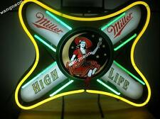 RARE New Miller High Life Beer Bar Real Glass Neon Light Sign FAST FREE SHIPPING