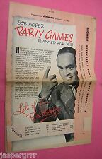 1953. BOB HOPE'S PARTY GAMES. FREE WITH 'WOMAN' MAGAZINE 1953.