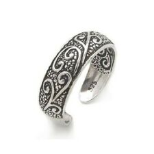0STERLING SILVER ADJUSTABLE TOE RING.ANTIQUE TR152