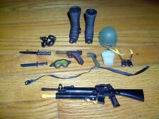 VINTAGE- LOT OF 19 - G.I. JOE ACCESSORIES-BOOTS WITH SNOW SPIKES -  ETC.LOT#3