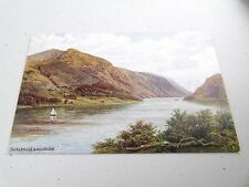 VINTAGE CONISTON WATER AND OLD MAN SIGNED THOMPSON VALENTINES POSTCARD