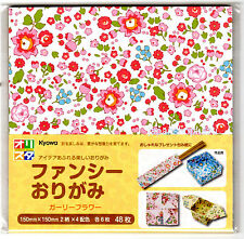 """Japanese origami paper""""Gurley flower"""" 48sheets / 15cm(5.9in) 8 Kinds"""