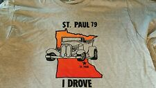 Vintage 1979 St. Paul MN Street Rod Nationals T Shirt   Grey L