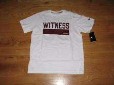 NEW Boys NIKE Lebron James WITNESS Youth S/S T-Shirt Size M 10-12 White Shirt