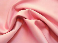 Stunning ROSY PINK Feather-Light Weight Charmeuse SATIN or Poly-Silk Fabric
