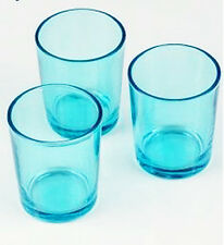 12 Turquoise Blue tealight candle holder table party decoration Ocean Beach idea
