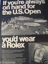 1967 Rolex Original Print Ad-If You Are Always On Hand U.S. Open- 8.5  x 10.5""