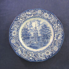 SET OF FOUR - Staffordshire China LIBERTY BLUE Dinner Plates