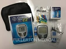 NEW Bayer Contour NEXT EZ Blood Glucose Monitoring Kit DIABETIC Test Meter