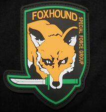 METAL GEAR SOLID FOX HOUND SPECIAL FORCES PS3 XBOX RUBBER PVC VELCRO PATCH USA!