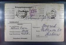 Camp Stalag XVIIA Kaisersteinbruch 1944 POW Prisoner Kriegsgefangenenpost K132