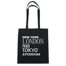 New York, London, Parigi, Tokyo ATTENDORN - Borsa Di Iuta Borsa - Colore: nero