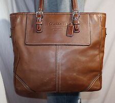 COACH Brown Large Leather Shoulder Hobo Tote Slouch Satchel Purse Bag