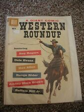 DELL GIANT WESTERN ROUNDUP #21 (1958) DELL ROY ROGERS DALE EVANS REX ALLEN