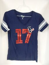 GIII 4her Houston Texans Osweiler 17 Navy/Red Vneck TShirt Sample Womens M