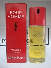 POUR HOMME YSL YVES SAINT LAURENT 3.3 FL OZ EAU DE TOILETTE SPRAY MEN VINTAGE