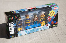 Marvel Universe MiniMates 4-pack, Wolverine, Cyclops, Logan, Storm