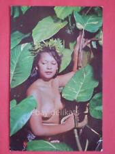 Tahitian beauty Thaiti Donna nuda naked woman old postcard