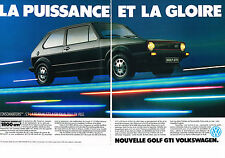 PUBLICITE ADVERTISING  1983   VOLKSWAGEN  GOLF GTI ( 2 pages)