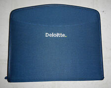 NEW Deloitte & Touche Company Logo Zippered Padfolio Notebook Organizer