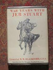 WAR YEARS WITH JEB STUART - FIRST EDITION - 1945 - CIVIL WAR MEMOR AND LETTERS