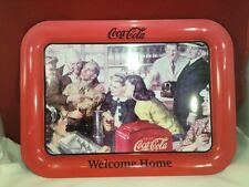 """COCA-COLA 2003""""WELCOME HOME!"""""""" METAL TRAY"""
