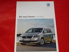 """VW Touran """"Freestyle"""" Sondermodell Prospekt von 2009"""